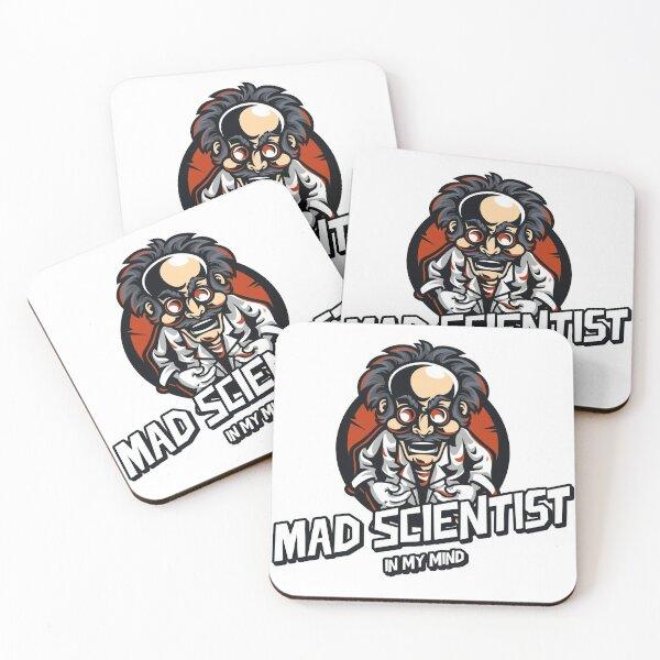 Mad Scientist (In My Mind) Coasters (Set of 4)