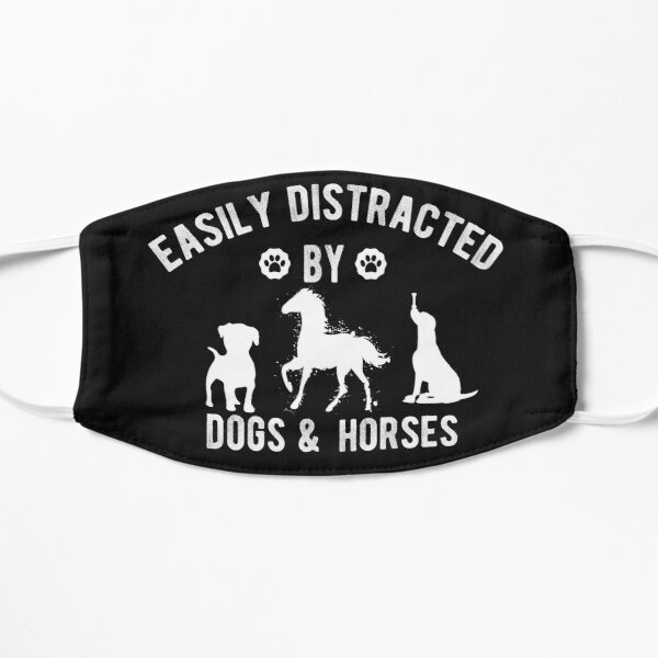 Easily Distracted By Dogs And Horses Mask