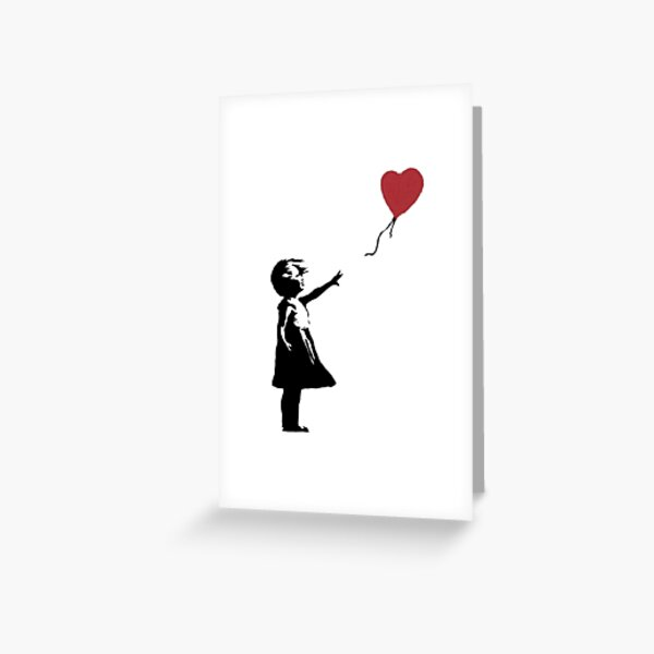 Girl With Balloon Banksy Greeting Card