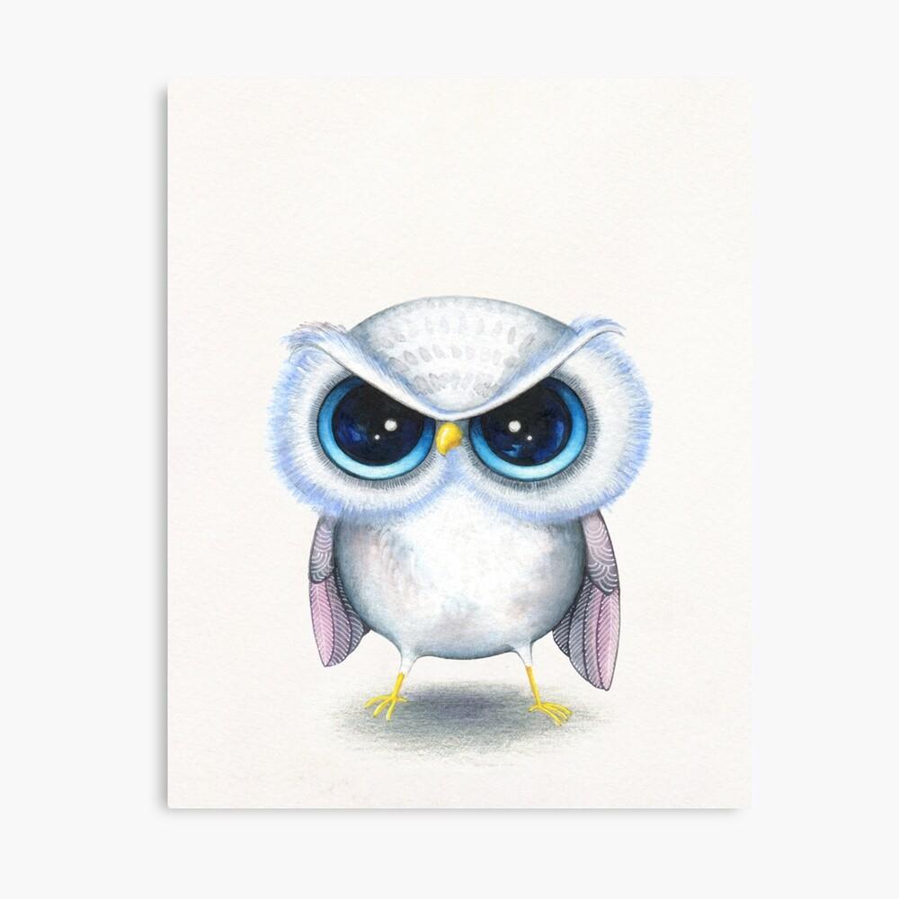 Grumpy Bird Canvas Print