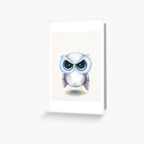 Grumpy Bird Greeting Card