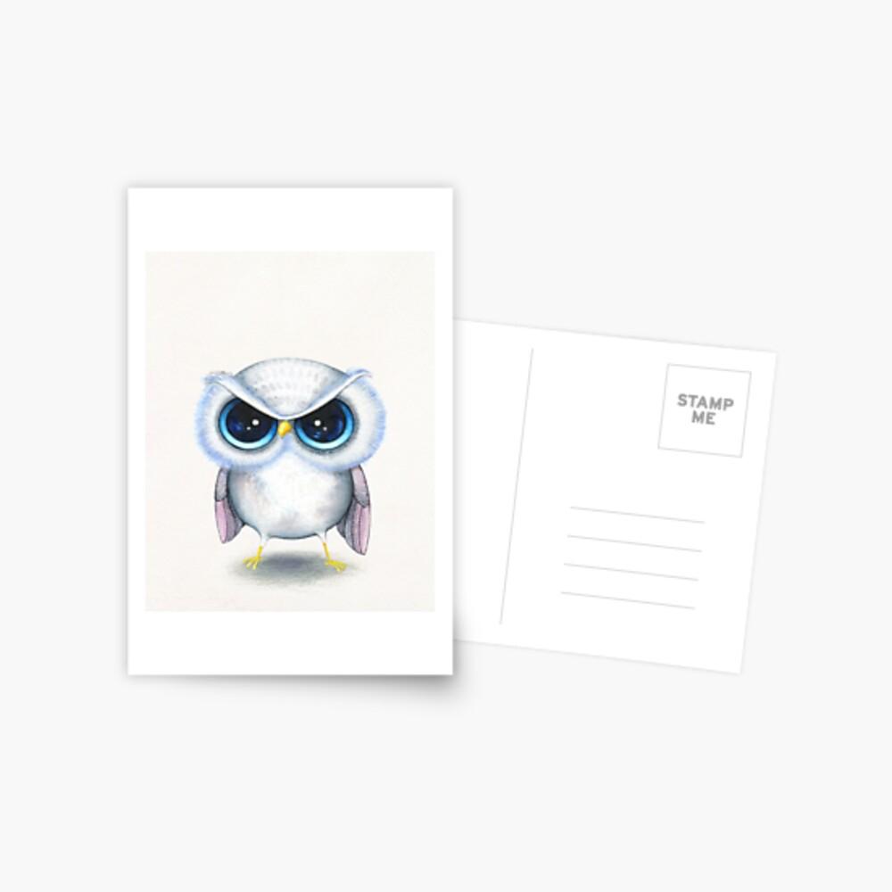 Grumpy Bird Postcard