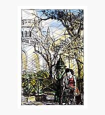 Montmartre 10 in colour Photographic Print