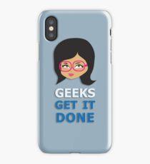 Geeks get it Done 2 iPhone Case/Skin