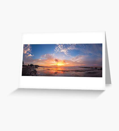 Key West Sunrise Panorama Greeting Card