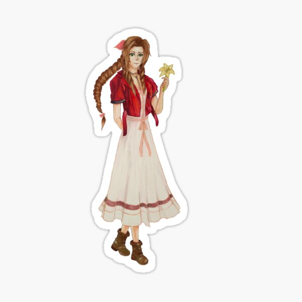 Aerith from Final Fantasy Vii Sticker