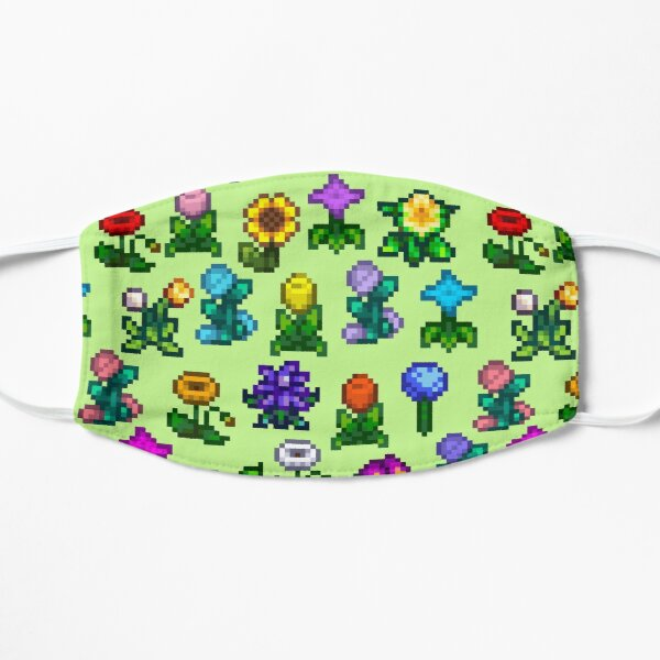 Stardew Flowers Flat Mask