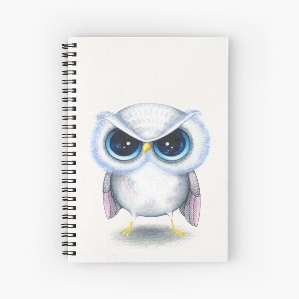 Grumpy Bird Spiral Notebook