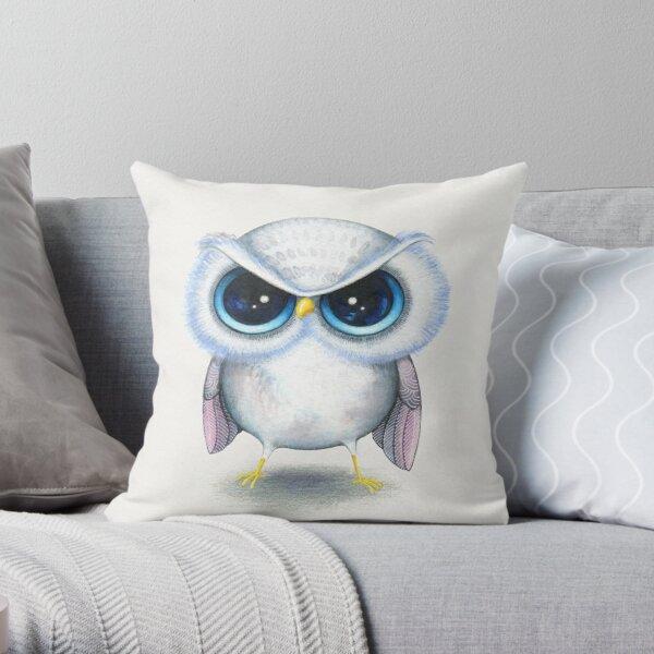Grumpy Bird Throw Pillow