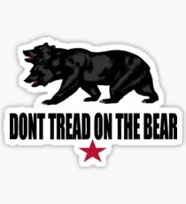 Don't Tread on the Bear Sticker