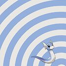 Pokemon - Dratini Circle iPad Case by Aaron Campbell