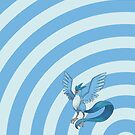Pokemon - Articuno Circles iPad Case by Aaron Campbell