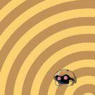 Pokemon - Kabuto Circles iPad Case by Aaron Campbell