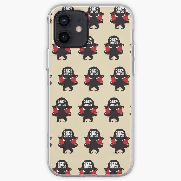 Obey Cthulhu - Crema para iPhone, iPad y iPod Funda blanda para iPhone