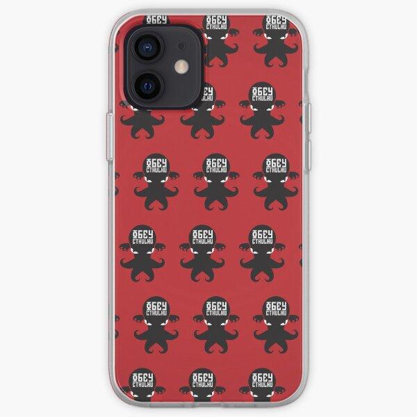 Obey Cthulhu - Fundas para iPhone, iPad y iPod de color rojo Funda blanda para iPhone