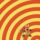 Pokemon - Magmar Circles iPad Case by Aaron Campbell