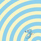 Pokemon - Horsea Circles iPad Case by Aaron Campbell