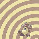 Pokemon - Kangaskhan Circles iPad Case by Aaron Campbell