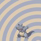 Pokemon - Rhydon Circles iPad Case by Aaron Campbell