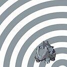 Pokemon - Rhyhorn Circles iPad Case by Aaron Campbell