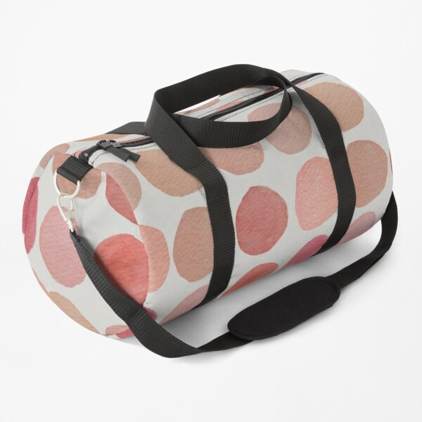 Soothing Hand Painted Pink Coral Watercolor Organic Circles Warm Colors Duffle Bag