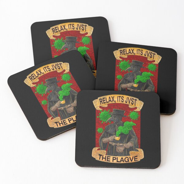 Plague Doctor Coasters (Set of 4)