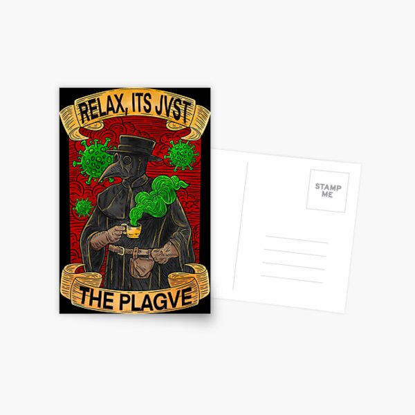 Plague Doctor Postcard
