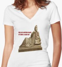 Peel Me Another Grape Women's Fitted V-Neck T-Shirt