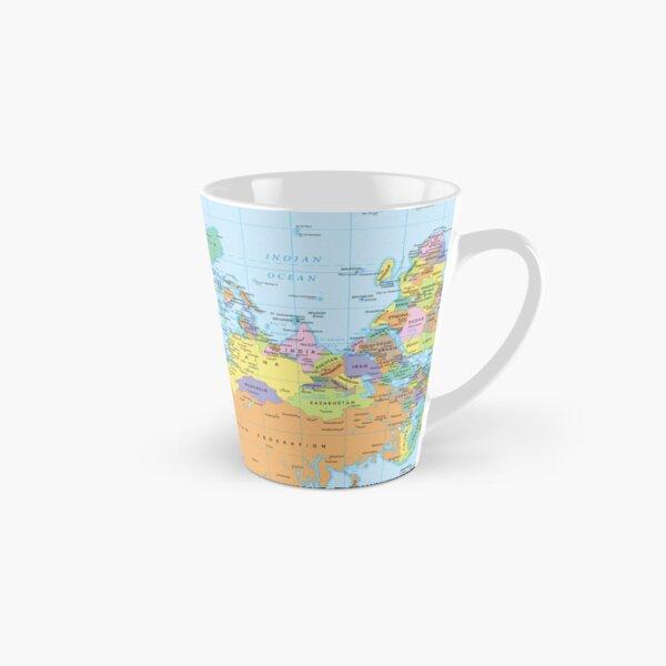 upside down world map Tall Mug