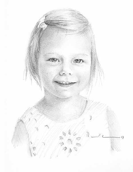 Delicate girl drawing by Mike Theuer