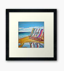 Beach Chair Reflection Framed Print