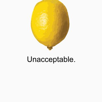 Unacceptable. by Tanjoh