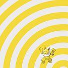 Pokemon - Hypno Circles iPad Case by Aaron Campbell