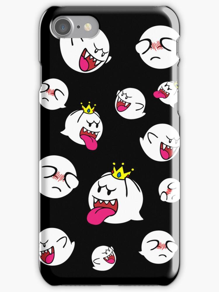 BOO Super Mario iPhone Case by quigalchemist