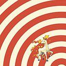 Pokemon - Rapidash Circles iPad Case by Aaron Campbell