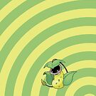 Pokemon - Victreebel Circles iPad Case by Aaron Campbell