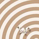 Pokemon - Mankey Circles iPad Case by Aaron Campbell