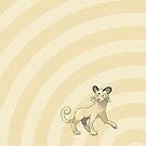 Pokemon - Persian Circles iPad Case by Aaron Campbell