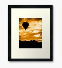 Balloon Rise Framed Print