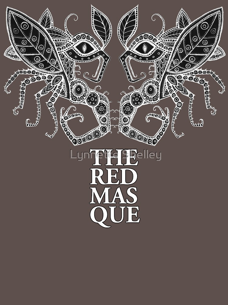 The Red Masque Psychedelic Insect Tee by LynnetteShelley