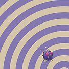 Pokemon - Venonat Circles iPad Case by Aaron Campbell