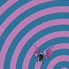 Pokemon - Golbat Circles iPad Case by Aaron Campbell