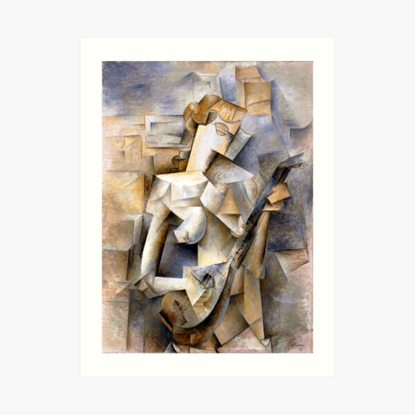 Picasso - Girl with a Mandolin Art Print