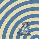 Pokemon - Nidoqueen Circles iPad Case by Aaron Campbell