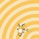 Pokemon - Raichu Circles iPad Case by Aaron Campbell