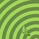 Pokemon - Metapod Circles iPad Case by Aaron Campbell