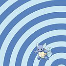 Pokemon - Wartortle Circles iPad Case by Aaron Campbell