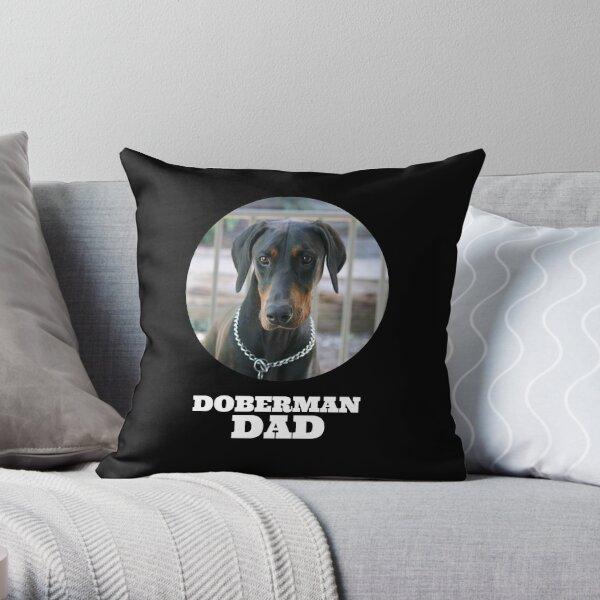 Doberman Dad Throw Pillow