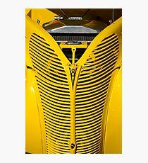 Yellow V8 Photographic Print