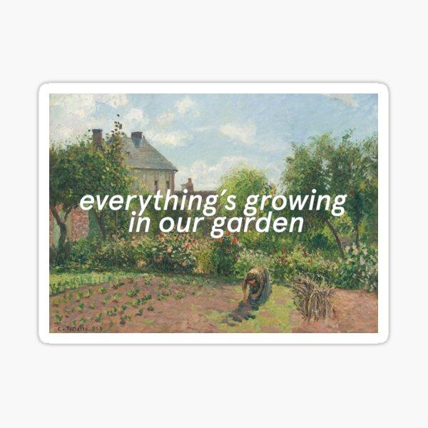garden song - phoebe bridgers Sticker